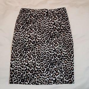J Crew Leopard Print Pencil Skirt size 00 NWT